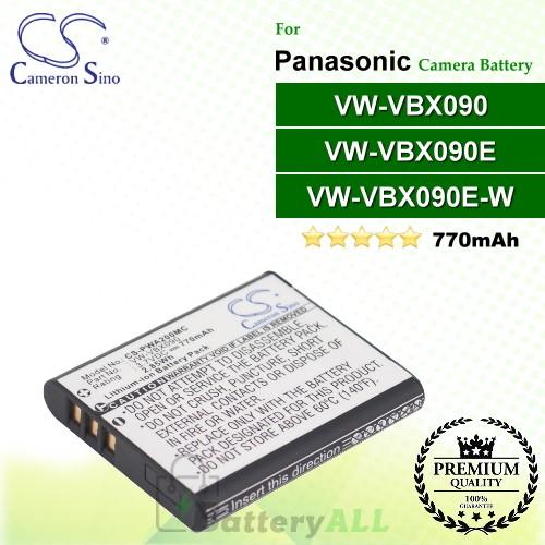 CS-PWA200MC For Panasonic Camera Battery Model VW-VBX090 / VW-VBX090E / VW-VBX090E-W