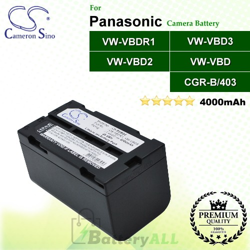 CS-SVBD2 For Panasonic Camera Battery Model CGR-B/403 / VW-VBD2 / VW-VBD3 / VW-VBD5 / VW-VBDR1