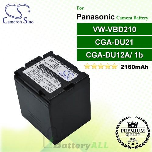 CS-VBD210 For Panasonic Camera Battery Model CGA-DU21 / CGA-DU21A / VW-VBD210