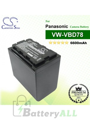 CS-VBD78MC For Panasonic Camera Battery Model VW-VBD78