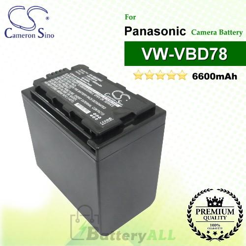CS-VBD78MC For Panasonic Camera Battery Model VW-VBD78