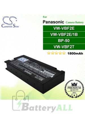 CS-VBF2E For Panasonic Camera Battery Model AG-B20P / BP-50 / EPK1185 / LCS-2012APC / LCS-2012AV / LCS-2312AVBNC / LCS-A122R3EU100C / LCT-1912AP / PV-BP80 / VSB-0011 / VW-VB30 / VW-VB31 / VW-VBF2E / VW-VBF2E/1B / VW-VBF2T / VW-VBM10 / VW-VBM7E