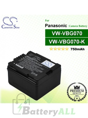 CS-VBG070 For Panasonic Camera Battery Model VW-VBG070 / VW-VBG070A / VW-VBG070-K