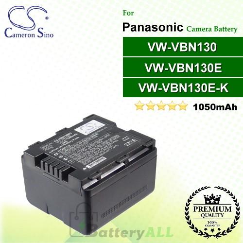 CS-VBN130MC For Panasonic Camera Battery Model VW-VBN130 / VW-VBN130E / VW-VBN130E-K