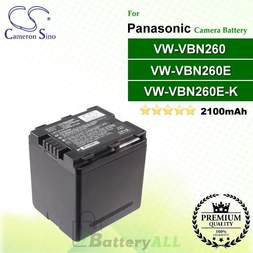 CS-VBN260MC For Panasonic Camera Battery Model VW-VBN260 / VW-VBN260E / VW-VBN260E-K