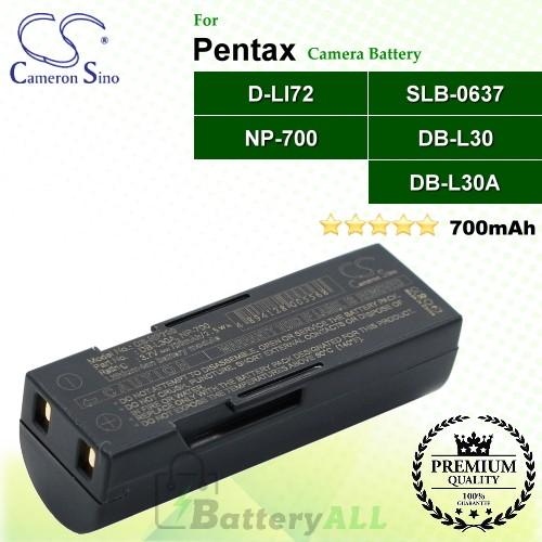 CS-NP700 For Pentax Camera Battery Model D-LI72