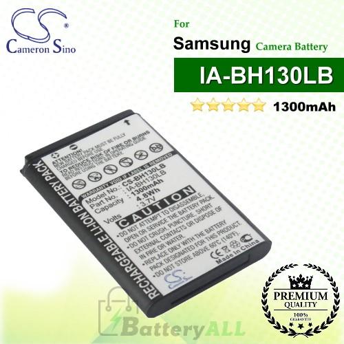 CS-BH130LB For Samsung Camera Battery Model BPBH130LB / IA-BH130LB / IA-LH130LB