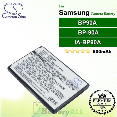 CS-BP90A For Samsung Camera Battery Model BP90A / BP-90A / IA-BP90A