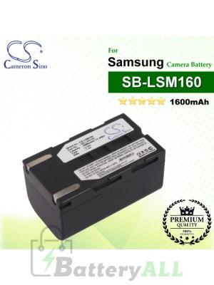 CS-LSM160 For Samsung Camera Battery Model SB-LSM160