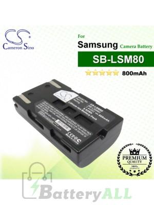 CS-LSM80 For Samsung Camera Battery Model SB-LSM80