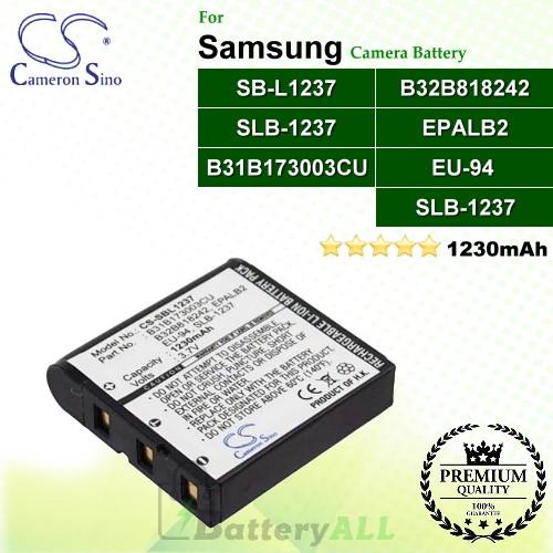 CS-SBL1237 For Samsung Camera Battery Model SB-L1237 / SLB-1237