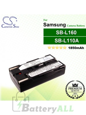 CS-SBL160 For Samsung Camera Battery Model SB-L110A / SB-L160 / SB-L320