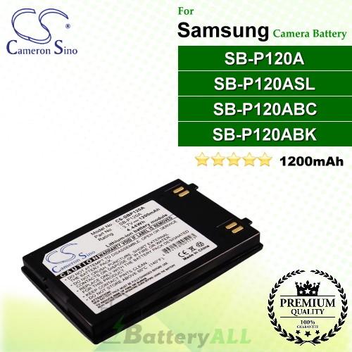 CS-SBP120A For Samsung Camera Battery Model SB-P120A / SB-P120ABC / SB-P120ABK / SB-P120ASL