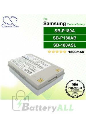 CS-SBP180A For Samsung Camera Battery Model SB-180ASL / SB-P180A / SB-P180AB