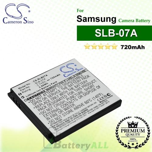 CS-SLB07A For Samsung Camera Battery Model SLB-07A