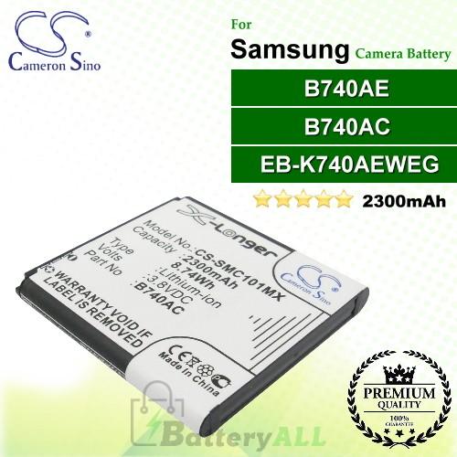 CS-SMC101MX For Samsung Camera Battery Model B740AC / B740AE / EB-K740AEWEG