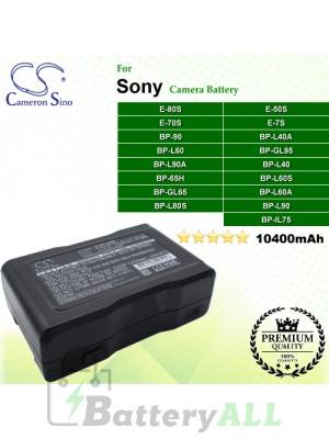 CS-BPL90MC For Sony Camera Battery Model BP-65H / BP-90 / BP-GL65 / BP-GL95 / BP-GL95A / BP-IL75 / BP-L40 / BP-L40A / BP-L60 / BP-L60A / BP-L60S / BP-L80S / BP-L90 / BP-L90A / E-50S / E-70S / E-7S / E-80S