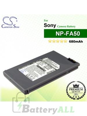 CS-FA50 For Sony Camera Battery Model NP-FA50