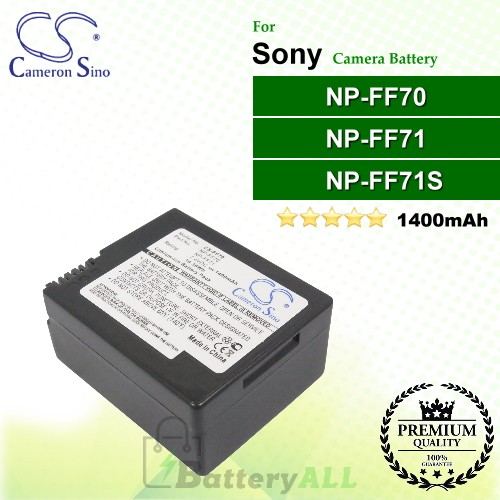 CS-FF70 For Sony Camera Battery Model NP-FF70 / NP-FF71 / NP-FF71S
