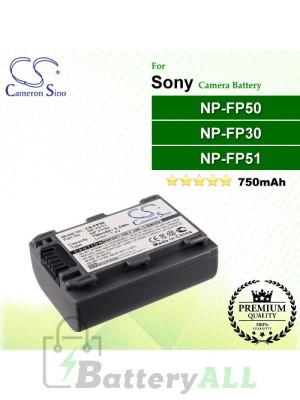 CS-FP50 For Sony Camera Battery Model NP-FP30 / NP-FP50 / NP-FP51