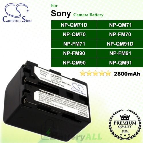 CS-QM71D For Sony Camera Battery Model NP-QM71D
