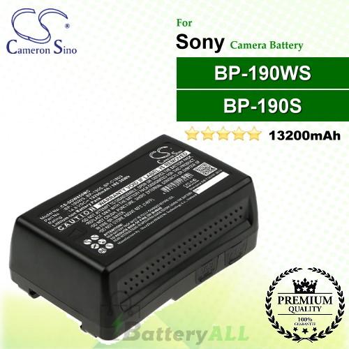 CS-SDW850MC For Sony Camera Battery Model BP-190S / BP-190WS / BP-C190S