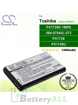 CS-PX1728MC For Toshiba Camera Battery Model 084-07042L-072 / PX1728 / PX1728E-1BRS / PX1728U