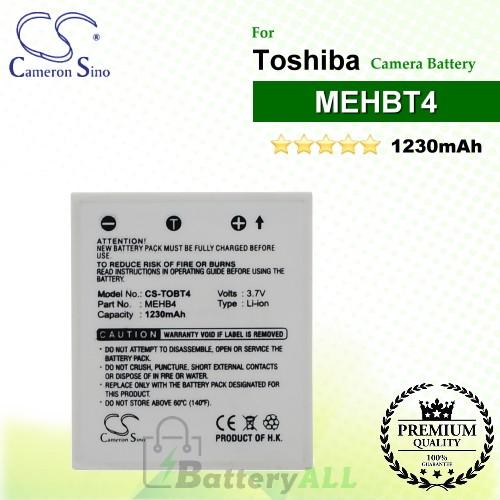 CS-TOBT4 For Toshiba Camera Battery Model MEHBT4