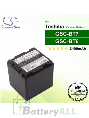 CS-TOBT7 For Toshiba Camera Battery Model GSC-BT6 / GSC-BT7