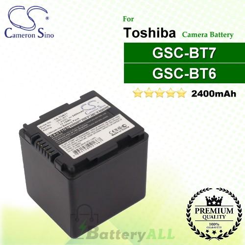 CS-TOBT7 For Toshiba Camera Battery Model GSC-BT6 / GSC-BT7