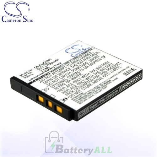 CS Battery for Kodak KLIC-7001 / Kodak EasyShare M1063 Battery 720mah CA-KLIC7001