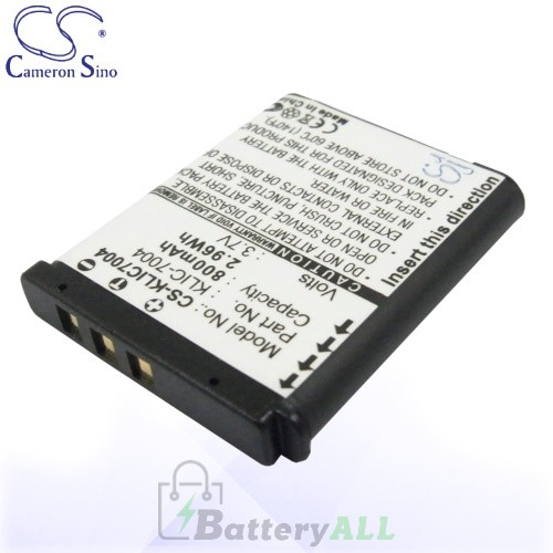 CS Battery for Kodak EasyShare M1093 IS / M2008 / V1073 Battery 800mah CA-KLIC7004