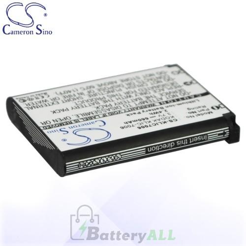 CS Battery for Kodak EasyShare M22 / M23 / M52 / M200 Battery 660mah CA-KLIC7006