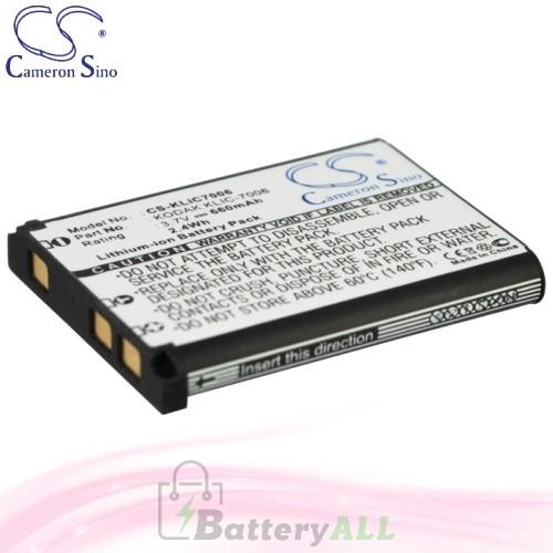 CS Battery for Kodak Easyshare M580 / M583 / M750 / MD30 Battery 660mah CA-KLIC7006