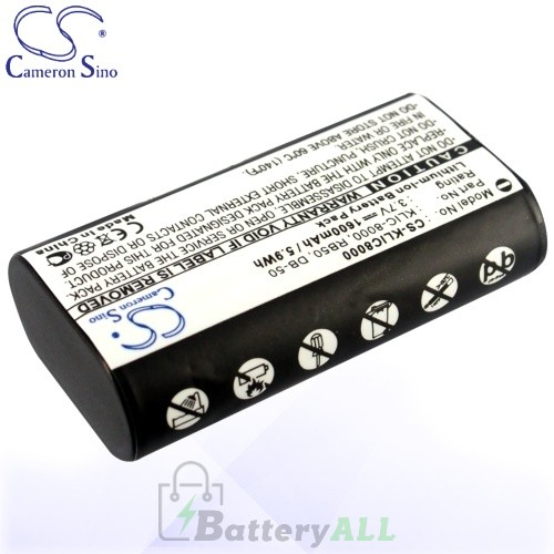 CS Battery for Kodak EasyShare Z1015 IS / Z1085 IS Battery 1600mah CA-KLIC8000