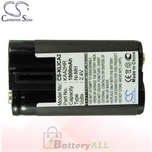 CS Battery for Kodak EasyShare CX7330 / CX7430 / CX7525 Battery 1800mah CA-KLICA2