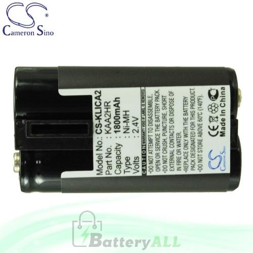 CS Battery for Kodak EasyShare Z710 / Z740 / ZD710 Zoom Battery 1800mah CA-KLICA2