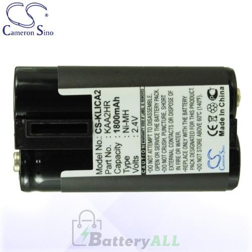 CS Battery for Kodak EasyShare C533 Zoom / C643 Zoom / CD33 Battery 1800mah CA-KLICA2