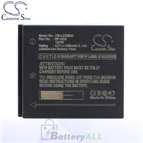 CS Battery for Leica BP-DC8 / 18706 / EA-DC-8 / Leica X1 Battery 1400mah CA-LDC8MC