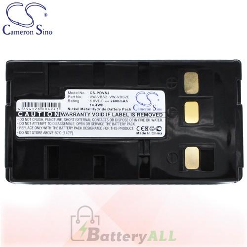 CS Battery for Panasonic NV-S600 / NV-S600EN / NV-S700 Battery 2400mah CA-PDVS2