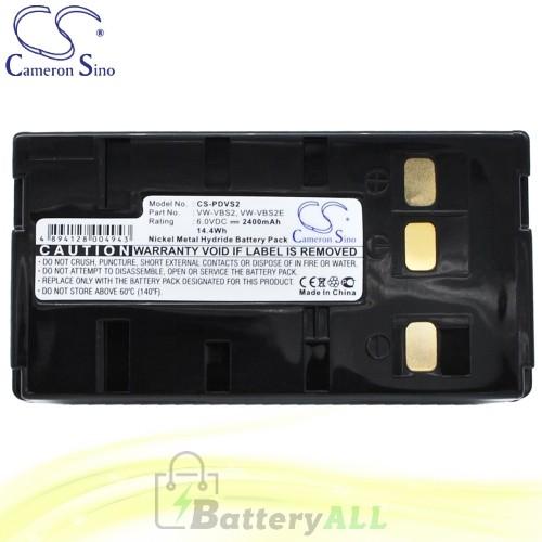 CS Battery for Panasonic PV-IQ244D / PV-IQ325 / PV-IQ403 Battery 2400mah CA-PDVS2