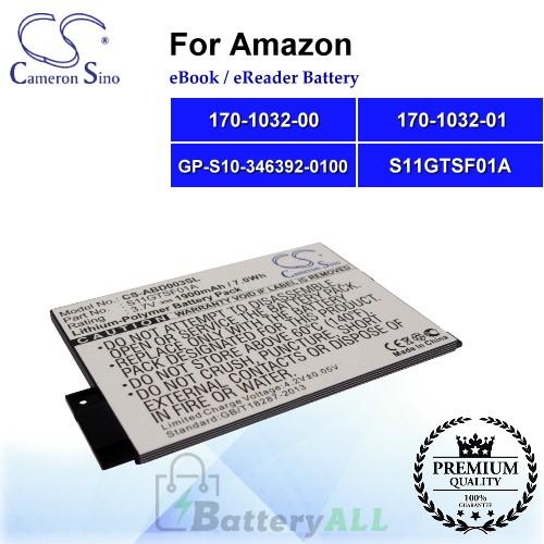 CS-ABD003SL For Amazon Ebook Battery Model 170-1032-00 / 170-1032-01 / GP-S10-346392-0100 / S11GTSF01A