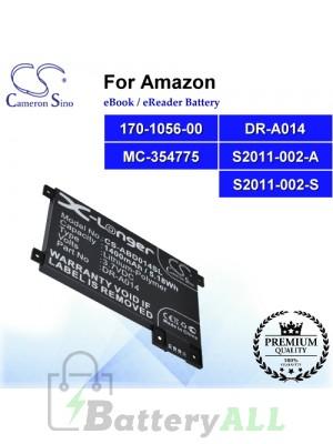 CS-ABD014SL For Amazon Ebook Battery Model 170-1056-00 / DR-A014 / MC-354775 / S2011-002-A / S2011-002-S