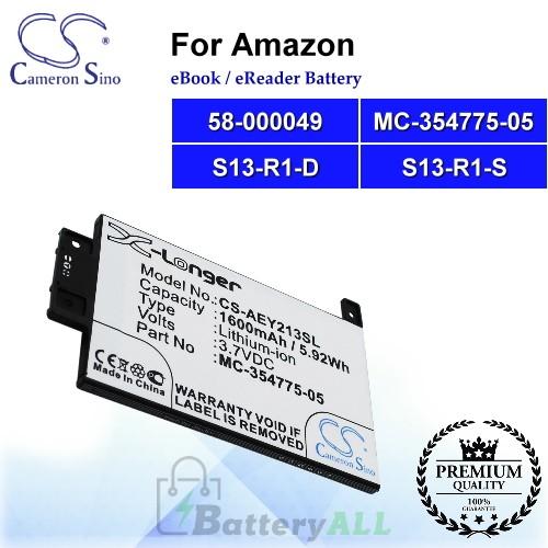 CS-AEY213SL For Amazon Ebook Battery Model 58-000049 / MC-354775-05 / S13-R1-D / S13-R1-S