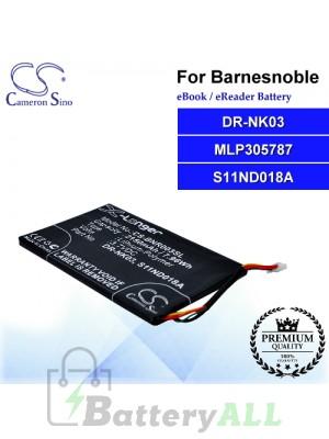 CS-BNR003SL For Barnes & Noble Ebook Battery Model DR-NK03 / MLP305787 / S11ND018A
