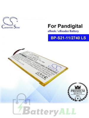 CS-PNR007SL For Pandigital Ebook Battery Model BP-S21-11/2740 LS