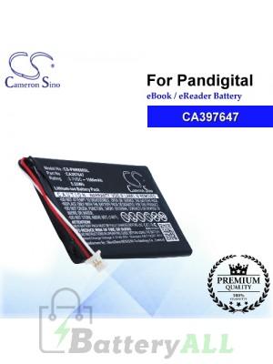 CS-PNR600SL For Pandigital Ebook Battery Model CA397647