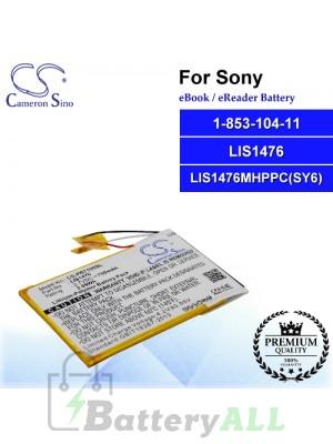 CS-PRT100SL For Sony Ebook Battery Model 1-853-104-11 / LIS1476 / LIS1476MHPPC(SY6)