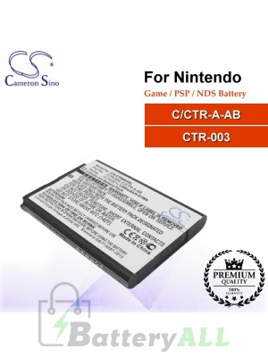 CS-CTR003SL For Nintendo Game PSP NDS Battery Model C/CTR-A-AB / CTR-003