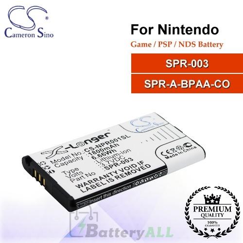 CS-NPR001SL For Nintendo Game PSP NDS Battery Model SPR-003 / SPR-A-BPAA-CO